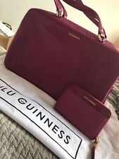 Lulu Guinness Purple Shoulder Bag And Zip Wallet Duo Brand New