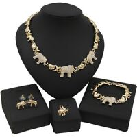 #66 HUGS & KISSES Elephants Set Necklace bracelet Earrings Ring