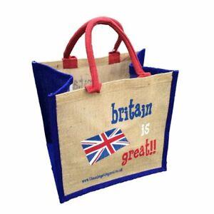 """Britain is Great"" Jute Shopper - Good Size Gift Bag - Brexit, Vote Leave"