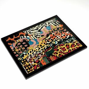 Glass Placemat 20x25 cm - African Fabric Tribe Africa  #2784
