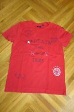 """T-SHIRT """"IKKS"""" - 5 ans - rouge avec inscriptions devant - manches courtes"""