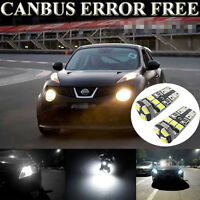 2 Pcs Xenon White LED Side Light Parking Bulbs ERROR FREE Fits For Juke QASHQAI