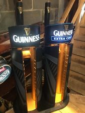 More details for guinness dual beer pump tap extra cold double font for home bar mancave pub rare