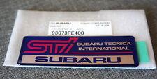 JDM STi Subaru Tecnica International Trunk Lid Badge / Emblem Self-Adhesive Blue