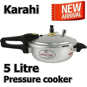5 LItre Pressure Cooker Stainless 5L Kitchen Catering Home Cookware Duel Handle