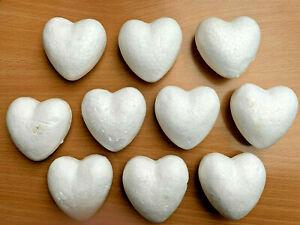 10 Styropor Herzen Zum Basteln, Dekorieren, Muttertag ca. 6,5 cm - neu