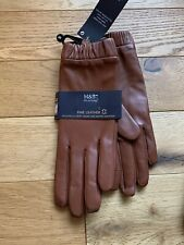 BNWT Marks & Spencer Fine Leather Touchscreen Gloves Size Small