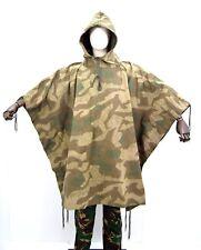 German Army Splinter Camo Canvas Poncho / Sheet Camouflage Vintage WW2 Heer