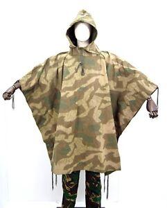 German Army Splinter Camo Poncho Waterproof Canvas Sheet Camouflage Heer WW2