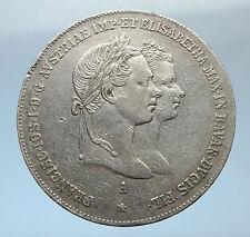 1854 AUSTRIA Wedding of FRANZ JOSEPH I & ELIZABETH of BAVARIA Silver Coin i73818