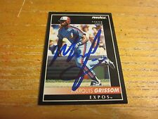 Marquis Grissom Autographed Signed 1992 Pinnacle #129 Card MLB Montreal Expos