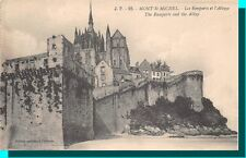 CPA 50-mont saint-michel-the ramparts of the abbey