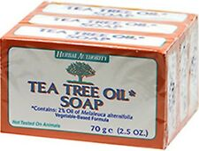 TEA TREE OIL SOAP 100% NATURAL Melaleuca ANTIFUNGAL HERBAL 3 BARS