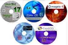 5 sistema operativo Linux en 5 Dvds, Zorin, menta, Mageia PCLinuxOS & CentOS, reemplazar Windows