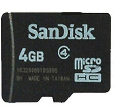 50 x 4GB MicroSD SanDisk SDHC Memory Card TF  Card Genuine New No Adapter
