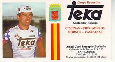 CYCLISME carte ANGEL JOSE SARRAPIO BORBOLLA (equipe TEKA)