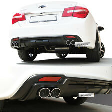 New Rear Bumper Diffuser Dual-muffler Matt Black For CHEVROLET 2013 2014 Cruze