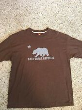 "Ben Davis MEN'S T Shirt Brown Size 3XL ""California Republic"" Logo Kd6"