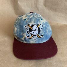 finest selection b55f3 430e6 Mitchell   Ness Stonewash Anaheim Ducks Snapback 20 Year Anniversary Hat