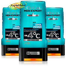 3x Loreal Men Expert Shower Gel Cool Power, Icy Caps, Ultimate Freshness 300ml