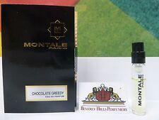 MONTALE CHOCOLATE GREEDY EAU DE PARFUM 0.07 OZ / 2 ML NEW SAMPLE SPRAY