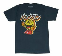 Pacman Men's T Shirt Kanji Logo Japanese Writing Retro Video Game Graphic Tee