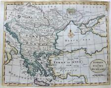 TURKEY HUNGARY GREECE BY THOMAS KITCHIN c 1792 GENUINE ANTIQUE ENGRAVED MAP