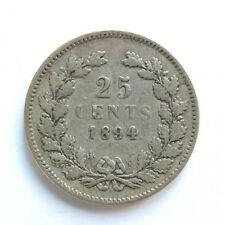 1894 Netherlands Silver 25 Cents SNo48252