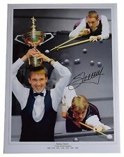 Stephen Hendry SIGNED autograph 16x12 HUGE photo Snooker Memorabilia AFTAL COA