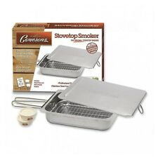 Camerons Stainless Steel Stovetop Smoking Oven Smoker & 100g Cherry Wood Chips