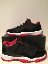 Air Jordan 11 Retro Low BG Bred Black Red White B-Grade GS Size 7Y 528896 012
