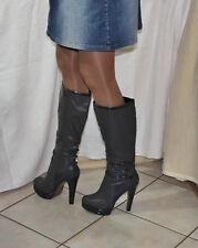 Sexy tacón alto plataforma botas talla 41/42
