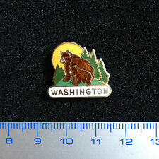 U.S. Pin Badge Bears Washington Zoo. Enamel Metal Original