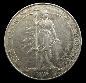 EDWARD VII 1904 SILVER FLORIN - FINE