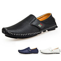 Loafers for Men's Driving Shoes Loafers Casual Leather Stitched Slip On Shoes