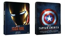 Iron Man 1-3 + Captain America 1-3 Blu-ray Steelbooks, Geprägt, EU Import, OVP