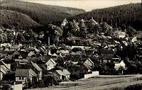 Elgersburg Thüringen DDR s/w Ansichtskarte 1966 gelaufen Gesamtansicht Panorama