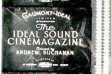 16mm FILM - IDEAL SOUND CINEMAGAZINE - TO SEE SIDE & BACK  - B/W - SOUND - 350'