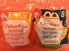 MCDONALDS 1995 FISHER-PRICE TOYS PRINCESS 7 AND KNIGHT 8 HAPPY MEAL TOYS New