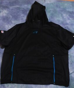 CAROLINA PANTHERS NIKE MENS BLACK THERMA FIT S/S PULLOVER HOODIE 4XL 906845-010