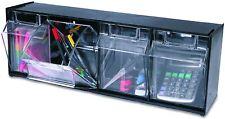 More details for deflecto interlocking tilt bin four bin horizontal tilt bin storage system 60cm