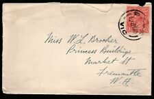 1925 PRE-DECIMAL STAMP COMMERCIAL USED COVER WITH 1 1/2d KGV HEAD ATTACHED #B9