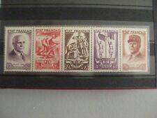 timbres français : secours national 1943 YT n° 576 à 580 **