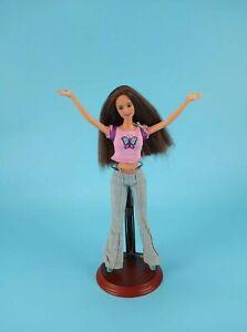 Mattel 2000s Teresa Barbie Doll Brown Hair Eyes Grey Eyeshadow + Outfit GUC