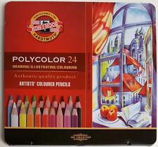 Koh-I-Noor Polycolor Künstler Farbstift, 24 Stück im Metalletui, Set, Buntstift