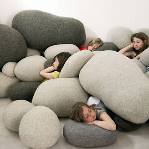 LIVING ROCK STONES SHAPE BEAN BAG PILLOW CASES/COVER/SHELL Filled with cotton