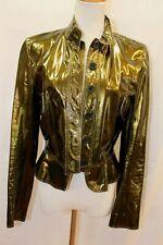 Burberry Patent Leather Jacket Coat US 4 UK 6