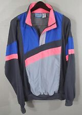 Vintage Turnpoint Athletic Sweatshirt XL Gray Neon Retro Sports Pullover Loud