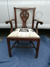 Set six Henkel Harris Chippendale Mahogany Dining room Chairs