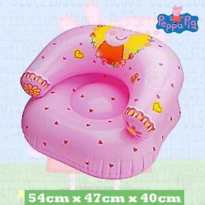 Peppa Pig Kids Boy Girls Pink Polka Dot Inflatable Blow Up Seat Sofa Couch Chair